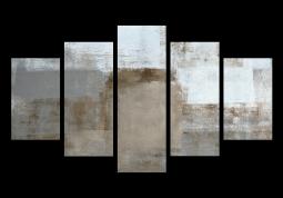 модульная картина Абстракция холст. Коричневый холст