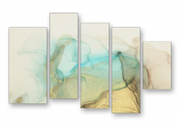модульная картина Абстракция мрамор. Зеленый дым