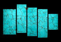 модульная картина Природа. Горная порода Бирюза