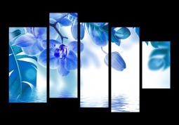 модульная картина Орхидея с отражением
