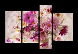 модульная картина Розовый букет