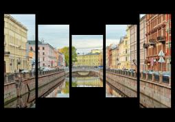 модульная картина с сюжетом Город