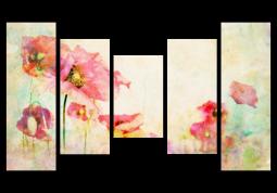 модульная картина Маки в акварели