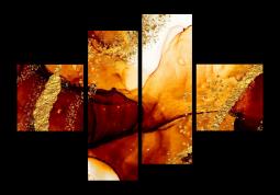 модульная картина Абстракция мрамор. Багряный закат