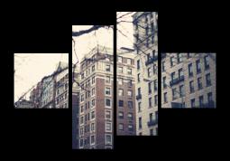 модульная картина Город. Нью-Йорк Квартал