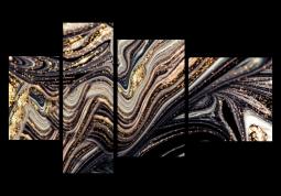модульная картина Абстракция Мрамор. Серо-розовые Волны