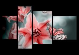 модульная картина Лилии в дымке
