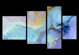 модульная картина Абстракция Мрамор. Фиалковая дымка