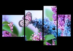 модульная картина Бабочки в сирени