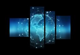 модульная картина Голубая земля