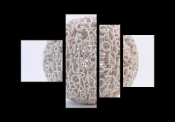 модульная картина Клубок букв