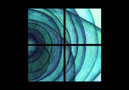 модульная картина Абстракция. Акварельные круги