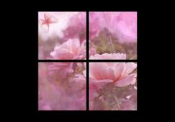 модульная картина Утренний сад