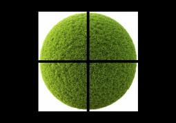 модульная картина Травяной шар