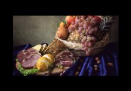 модульная картина Мясо и виноград