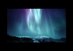 модульная картина Природа. Северное сияние