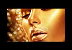 модульная картина Золотая девушка