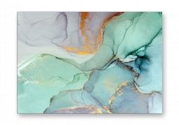 модульная картина Абстракция Мрамор. Лазурная дымка