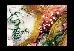 модульная картина Абстракция мрамор. Бирюзово-вишневое золото
