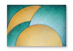 модульная картина Абстракция. Золотой круг