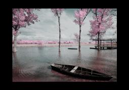 модульная картина Розовый пейзаж