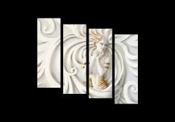 модульная картина Белая нимфа